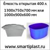 Открытая емкость 400 литров бак ванна